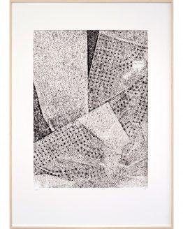 monoprint #1 in lijst door Hinke Weikamp